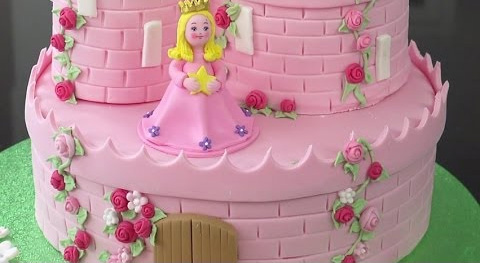 Enchanted in Pink Castle Cake