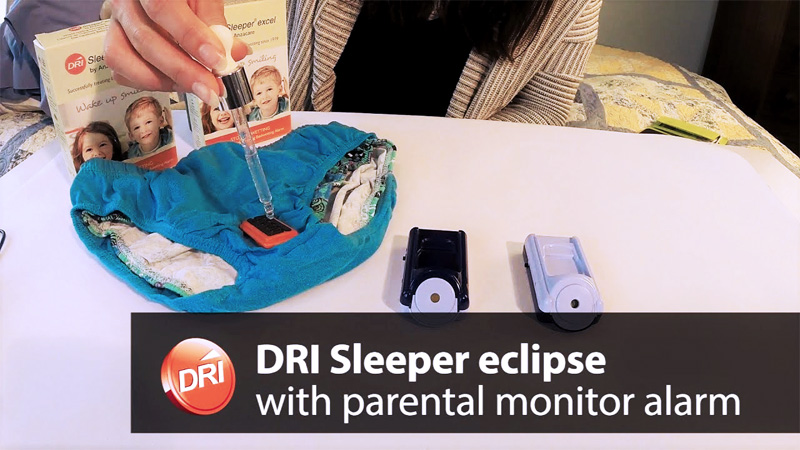 DRI Eclipse wireless alarm bedwetting