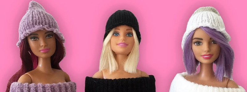 Simple Knitted Barbie Doll Hat