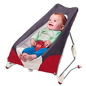 baby sitting in a basic baby bouncer - best baby bouncer