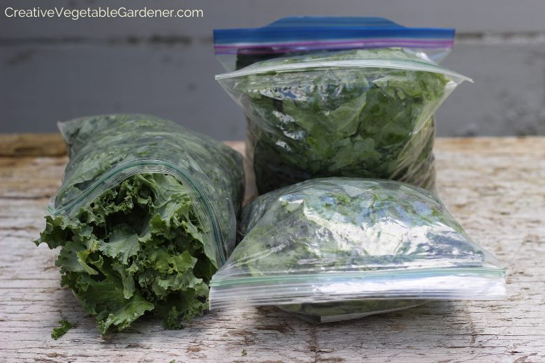 Quickly Freeze Kale