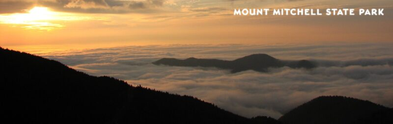 A dark view of Mount Mitchell State Park